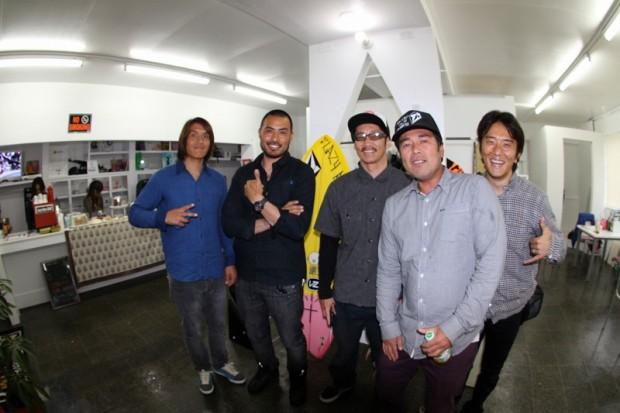 今回駆けつけてくれた仲間達。左から吉川共久、原田正規、平野哲也、伊藤勝則