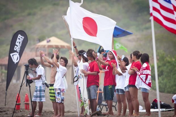 TEAM JAPAN Credit:ISA/Shawn Parkin