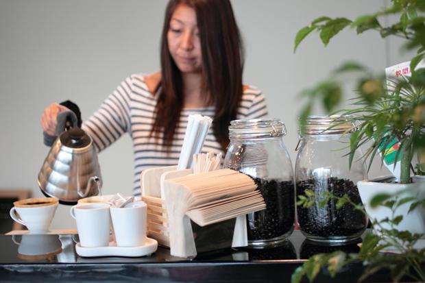 ダークローストとミディアムローストがこだわりのコーヒー。