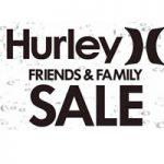 【Hurley】5/11(金)、5/12(土)ファミリーセールを開催。