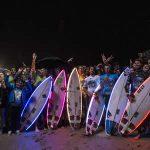 夜の海でサーフ・イベント「アングレット・サーフ・ド・ニュイ」のハイライト映像が公開