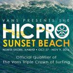 サンセットの大波に7人のサムライが挑む。QS3000「HIC Pro Sunset Beach」10/27開幕