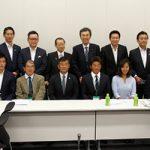 自民党 マリンスポーツ議員連盟 設立総会が行われ、小川直久プロらサーファー代表で出席