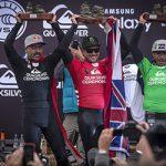 今シーズンのWSLビッグ・ウェイブ・ツアー開幕戦でマクアカイ・ロスマンが優勝