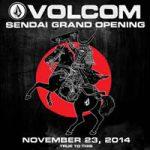 東北初&国内第6号店となるVOLCOM STORE仙台店が11月23日(日)グランドオープン。