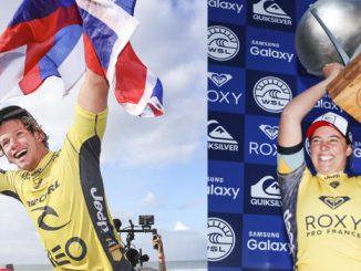 今シーズンのワールドチャンピオンのジョン・ジョンとタイラー・ライト