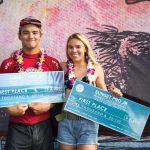 サンセット・プロジュニアでバロン・マミヤとゾーイ・マクドゥーガルのハワイアン・ペアが優勝