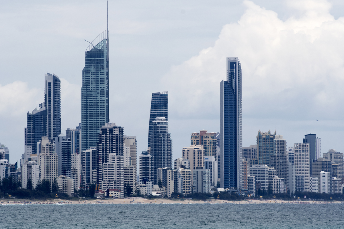 Surfers Paradise from Burleigh Heads WSL/Bennett