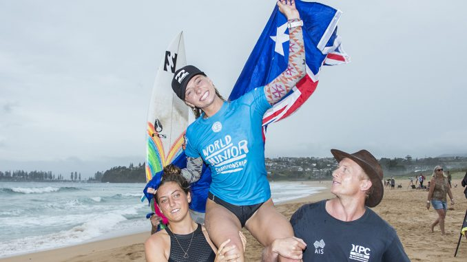 Macy Callaghan of Australia is the Women's World Junior Champion PHOTO: © WSL / Cestari