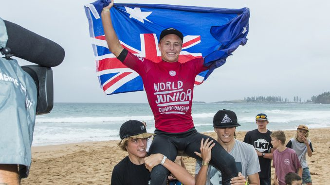 Ethan Ewing is the Men's World Junior Champion.PHOTO: © WSL / Cestari
