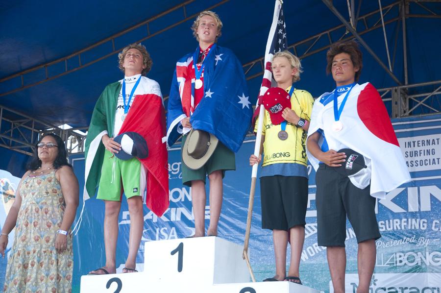 U16で4位となりメダルを獲得した稲葉玲王 Rommel_Gonzales