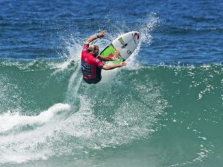 Owen Wright Made his return to competitve surfing at the Maitland and Port Stephens Toyota Pro at Merewether Beach and won his opening Round heat.