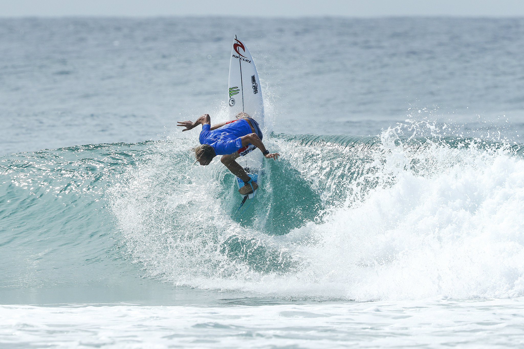 Owen Wright of Australia made a stellar return to Championship Tour competition after a year off due to brain injury by winning Heat 12 of Round One at the Quik Pro Gold Coast, Australia,