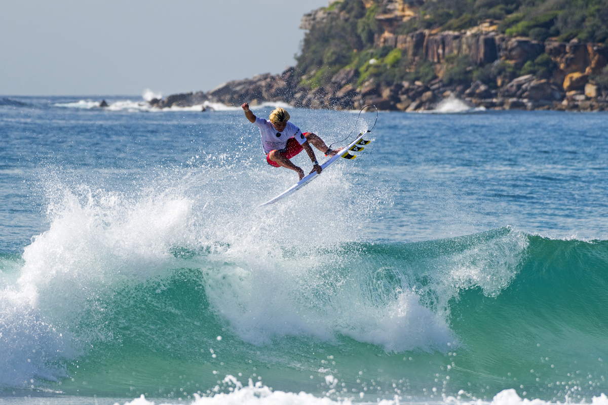 Reo Inaba bossting at the Australian Open of Surfing