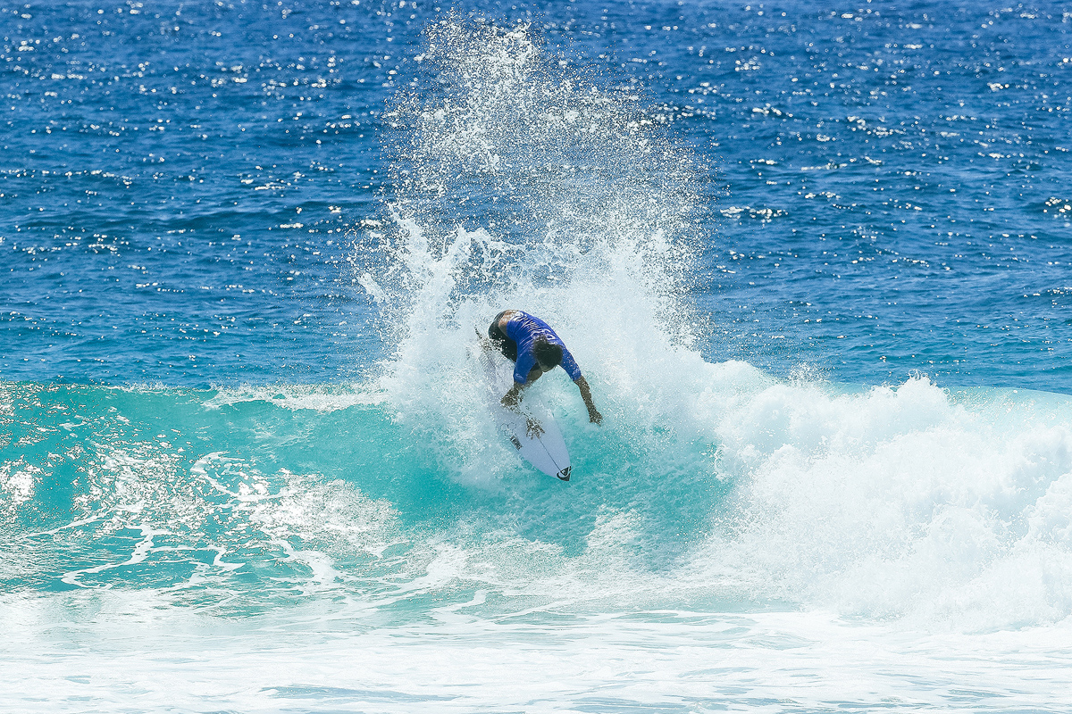 Connor O'Leary of Australia won Heat 11 of Round Two at the Quik Pro, Gold Coast, Australia.