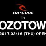 ZOZOTOWNにRIPCURLのオフィシャル・オンラインストアが3月16日にオープン。オープン記念セールも開催