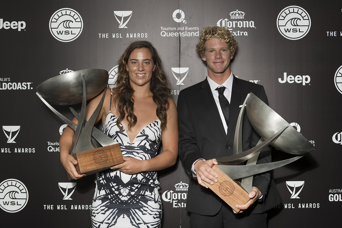 John John Florence and Tyler Wright - 2016 World Champions  © WSL / Cestari