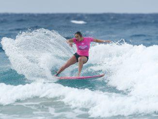 Carissa Moore of Hawaii winning Heat 5 of Round One at the Roxy Pro Gold Coast, Australia.Credit : © WSL / Sloane