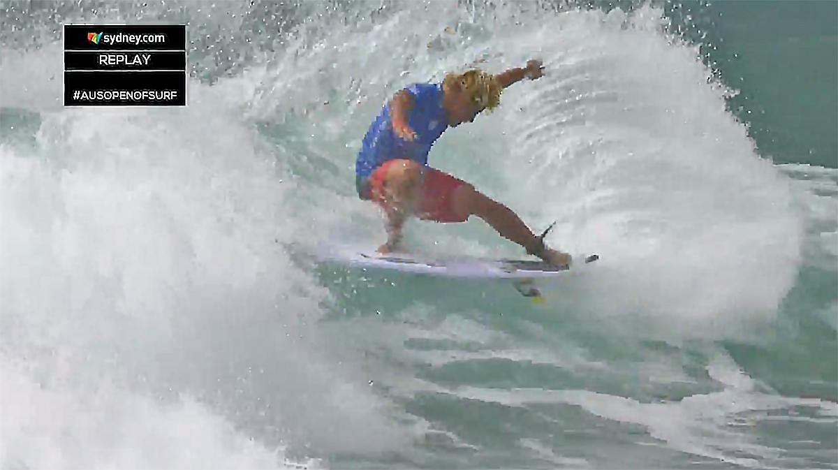 稲葉玲王は惜しくも敗退となったが、存在感のあるサーフィンを見せた