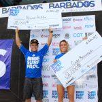 キアヌ・アシンとクレア・ベヴィラックァが優勝した「バルバドス・サーフ・プロ」最終日ハイライト映像公開