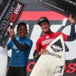 加藤嵐がカリフォルニアのハンティントンビーチで開催されたQS1,500「ジャックス・サーフボード・プロ」準優勝