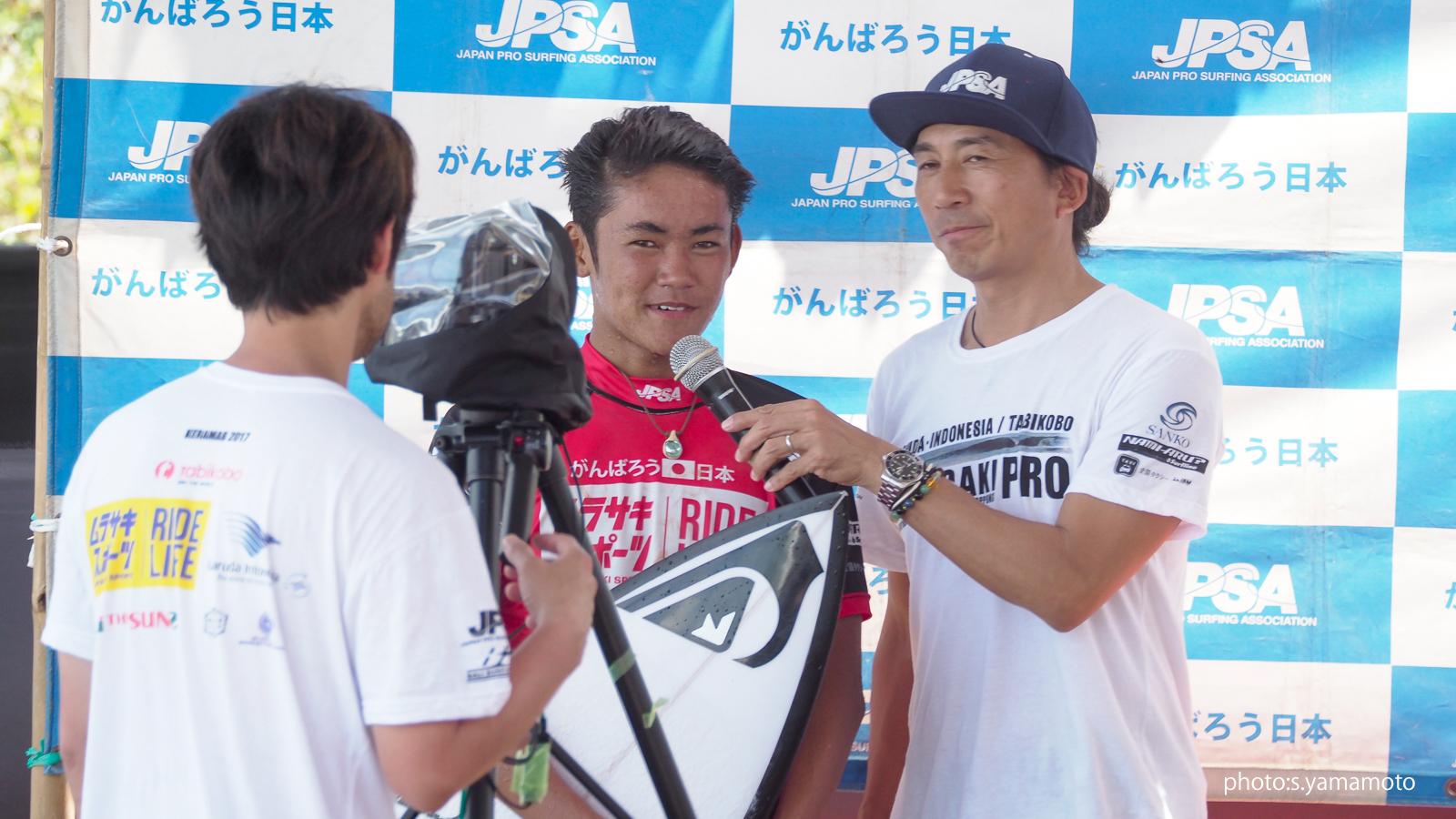 昨年は3位入賞した和井田理央。今年は優勝しか見えていないはず。