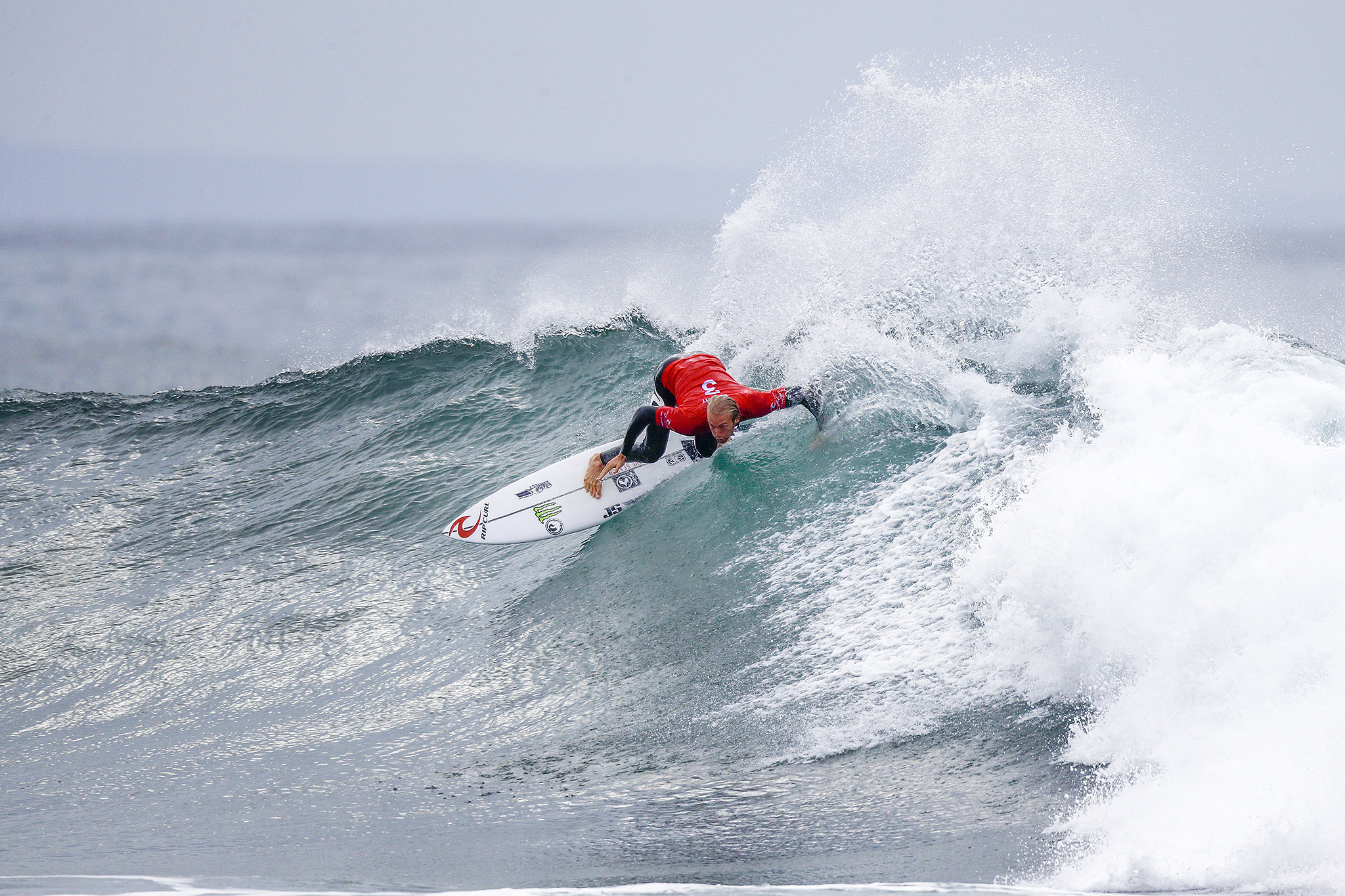 Owen Wright of Australia advanced directly to Round Three by winning Heat 2 of Round One at the Rip Curl Pro Bells Beach.