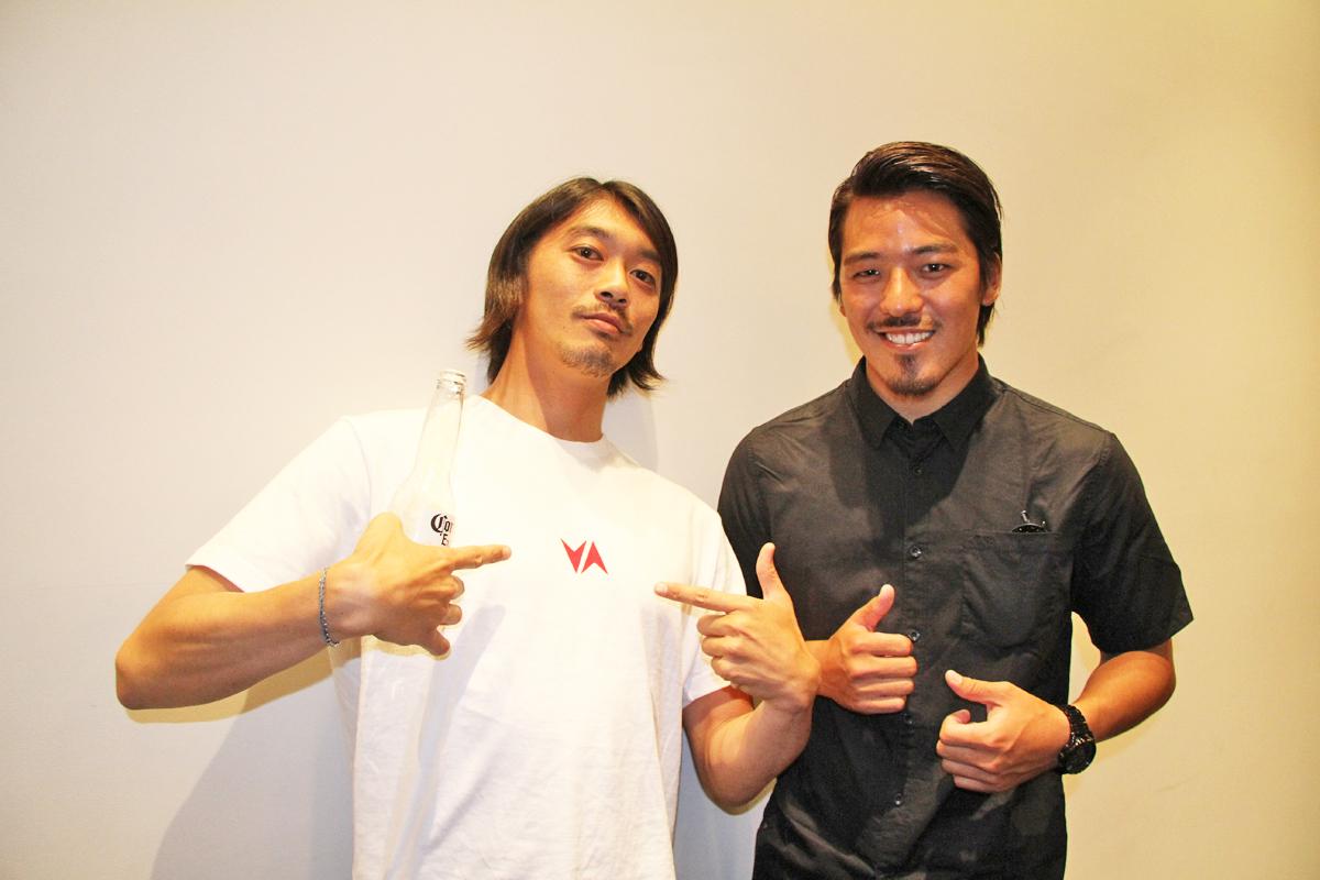 RVCAの中浦章と金尾玲生もパーティを楽しんだ。