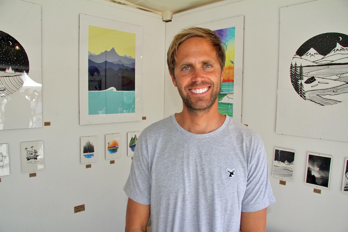 動物をモチーフにサーフィンの世界観を表現するドロウワー、ジョナス・クレアッソン。