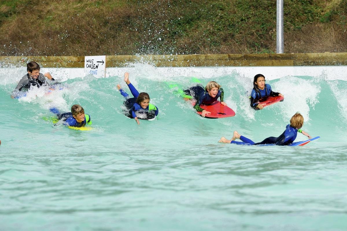子供たち用にも波を変化できる。Wavegarden / Pacotwo.
