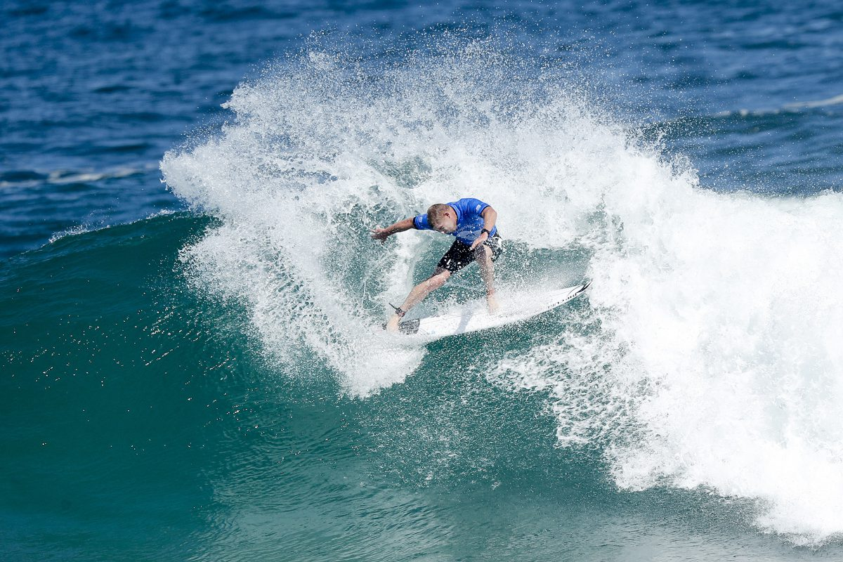 3X World Champion Mick Fanning of Australia advances directly to Round Three after winning Heat 10 of Round One of the Oi Rio Pro at Saquarema, Rio de Janeiro, Brazil.