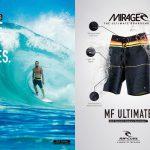 Made For Waves!疎水性、ストレッチ性、超軽量を実現したRIP CURLのミラージュ Boardshorts シリーズ