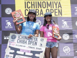 優勝した川合美乃里と2位の黒川日菜子