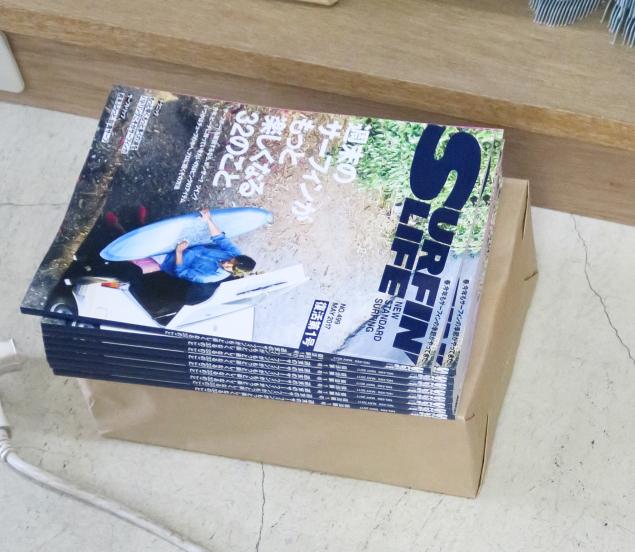 編集部に残っている本はこれだけ。サーフィンライフの復活を待ち望んでいた人は多い