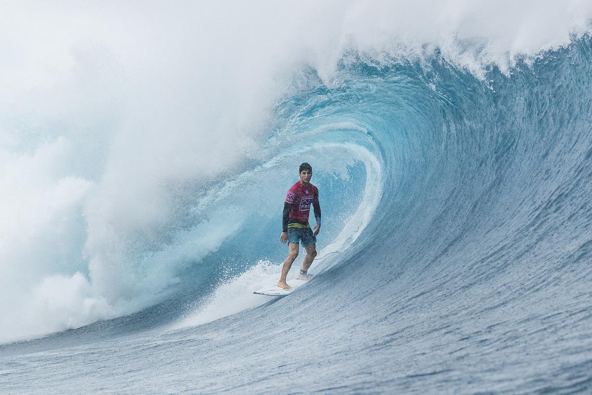 フィジーでは2度優勝しているガブリエル・メディーナ(BRA)。「波を読むのが難しかった」とコメント