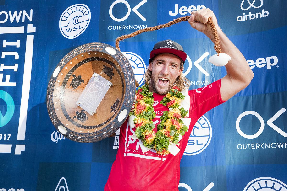 今シーズン初優勝にしてランキングトップとなったウィルコ PHOTO: © WSL / Cestari