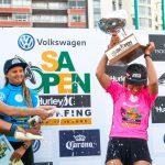 新井洋人、喜納海人がR5進出。田代凪沙と野呂玲花が7位。Volkswagen SA Open of Surfing