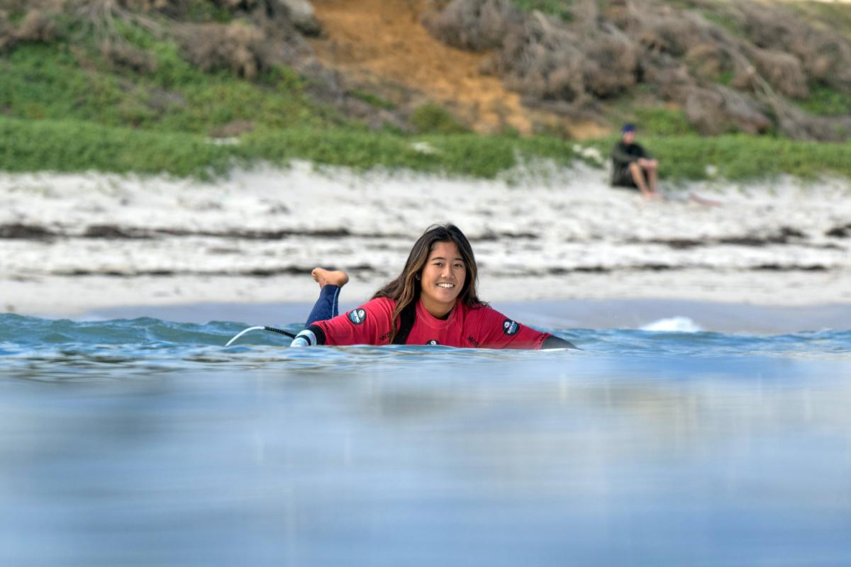 田岡なつみ Credit: © WSL / Surfing WA / Majeks