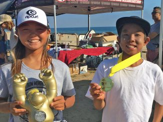 優勝した松岡亜音とカリフォルニアで生まれ育ったセナ若林も4位。
