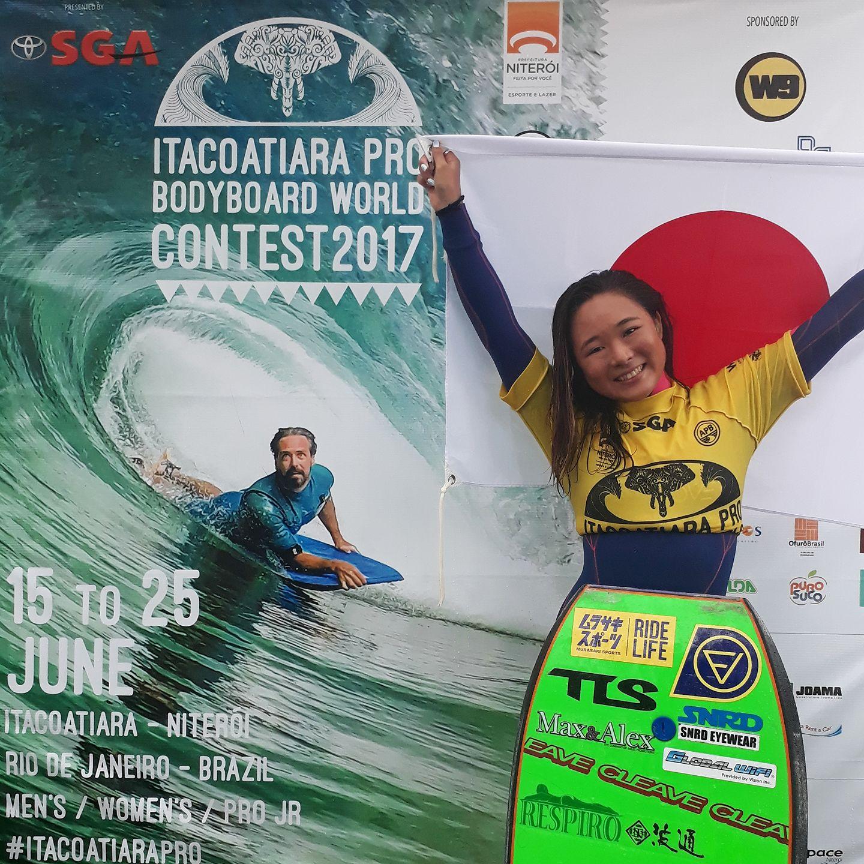 今年6月、ウィメンズツアー第2戦目となる『Itacoatiara Pro』で優勝