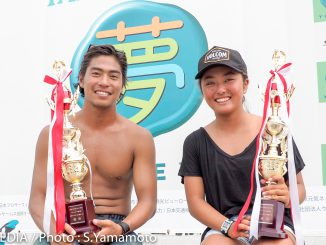 優勝した加藤嵐と脇田紗良