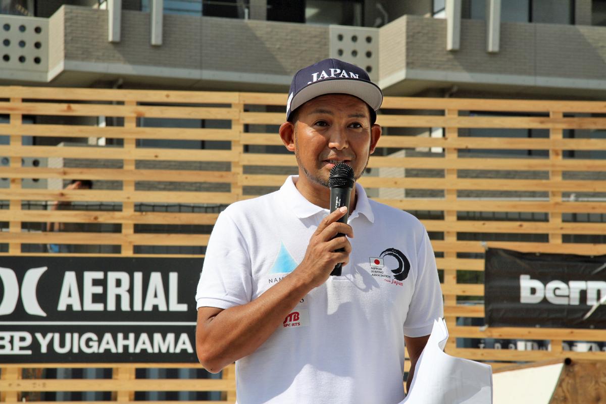 日本サーフィン連盟の井本氏もオリンピックに向けたキッズたちのトレーニング施設の重要性を語った。