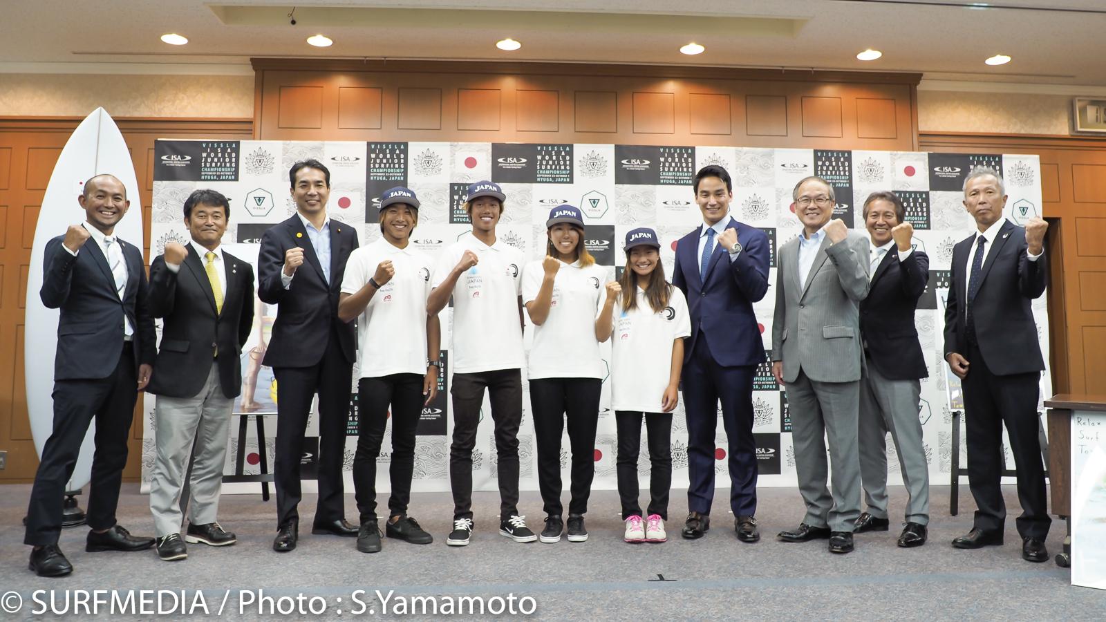 日本チーム一丸となってメダル獲得を目指す。