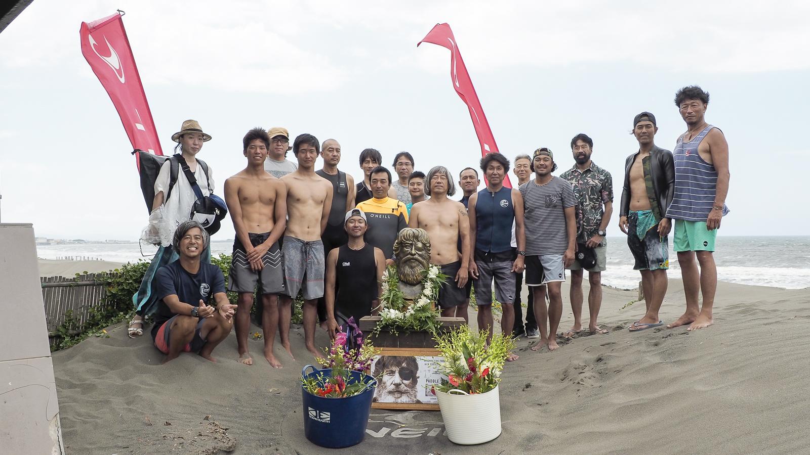 サーフィン界の偉大なレジェンドで、ウェットスーツのパイオニアであるジャック・オニールの追悼セレモニーも行われた