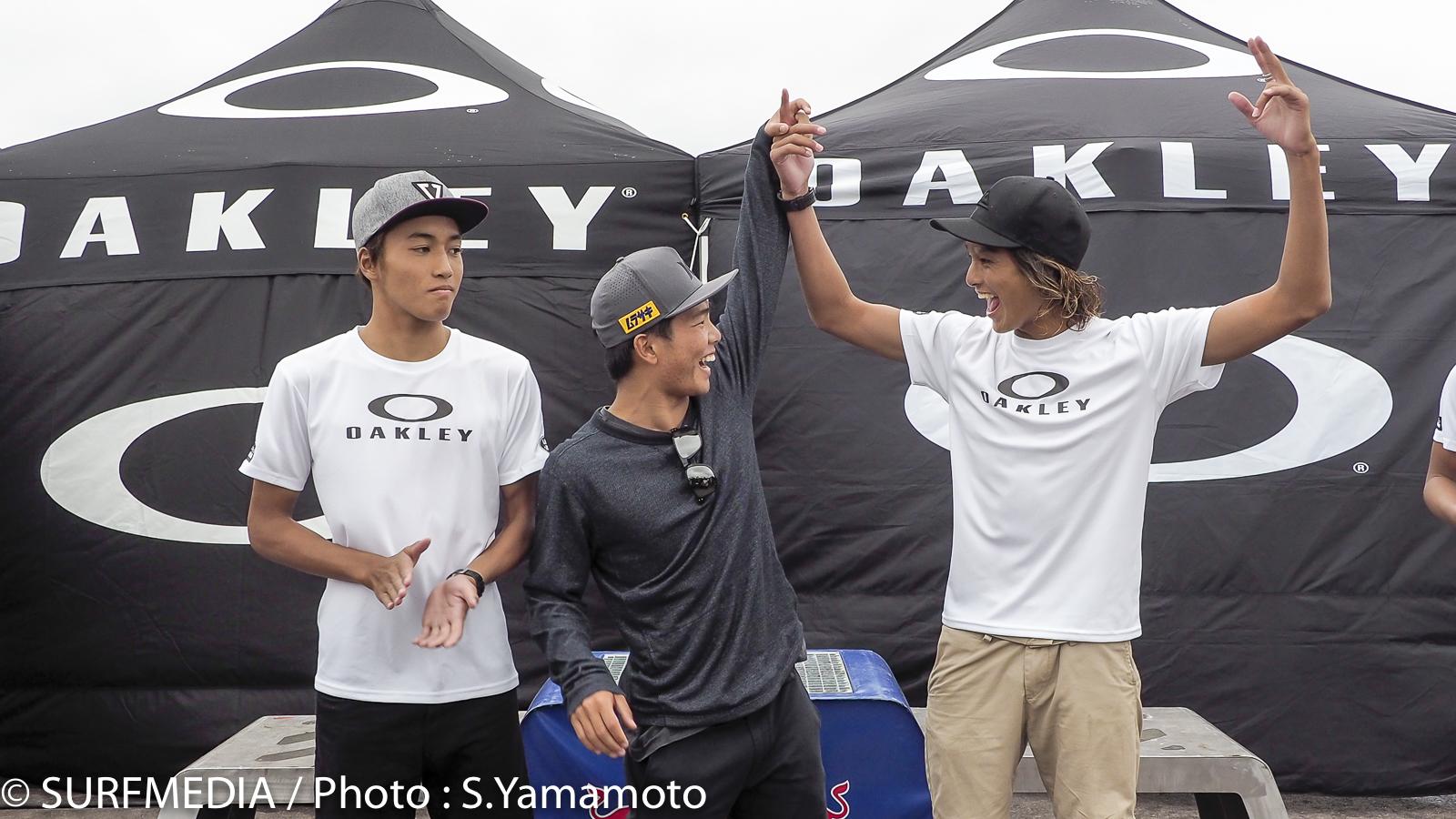 AA-Boys(アンダー16)で優勝した平原颯馬