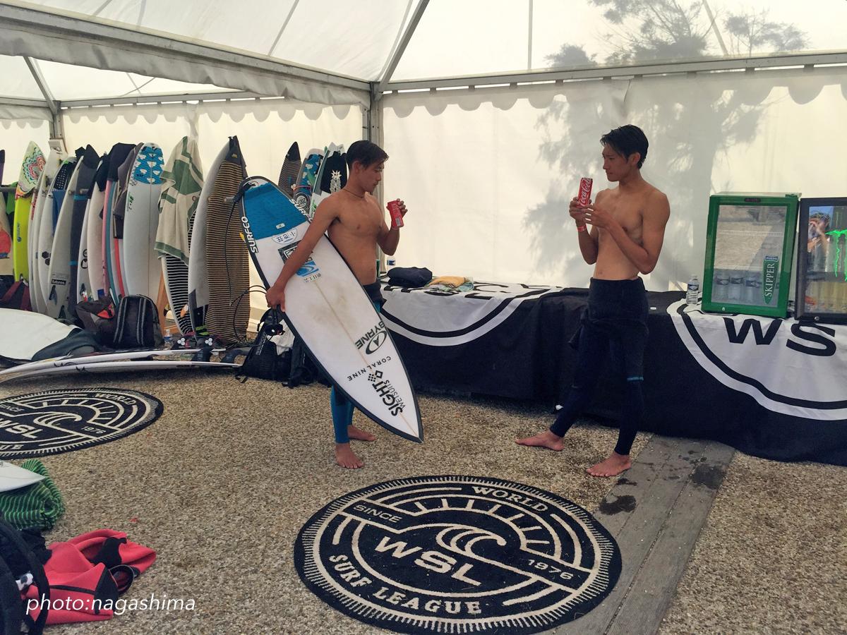 粟田海と成は兄弟でツアーに参加