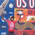 【速報!】VANS USオープン・オブ・サーフィンでカノア五十嵐が初のUSオープン・タイトルを獲得