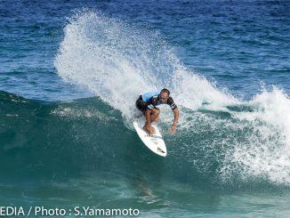 パワーのある波にはパワーサーフィンが映える。大野修聖。