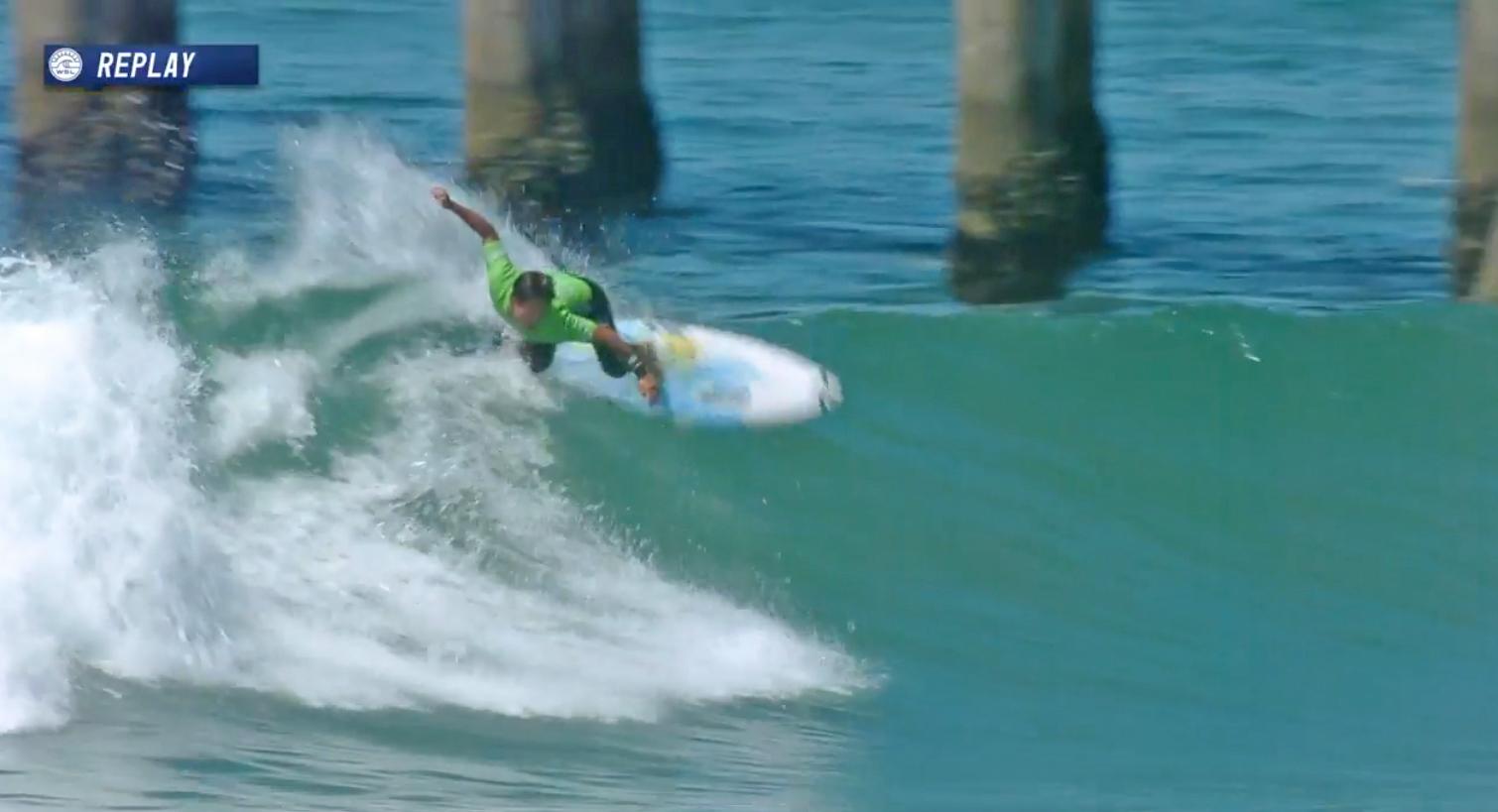 安定したサーフィンを見せる大原洋人