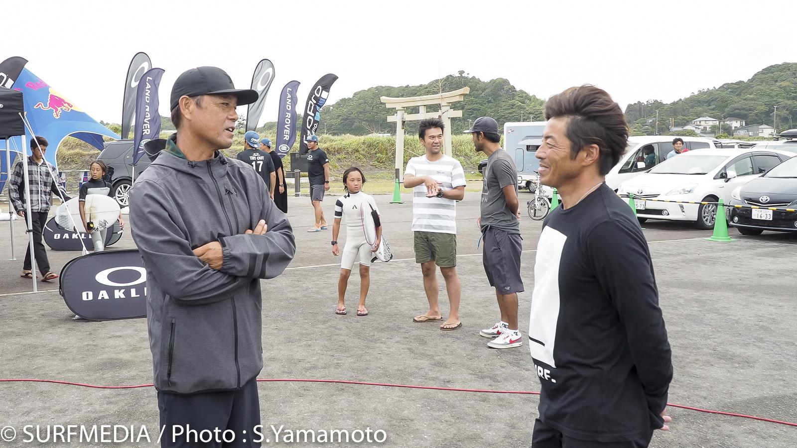 会場には糟谷修自、小川直久プロの姿も。直久プロの息子さんも出場